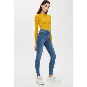 Topshop Mid-Blue Jamie Skinny Jeans